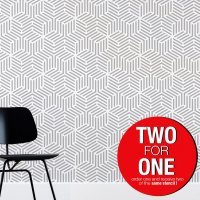 LINEAR HEXAGON / Reusable Allover Large Wall Stencils for Painting