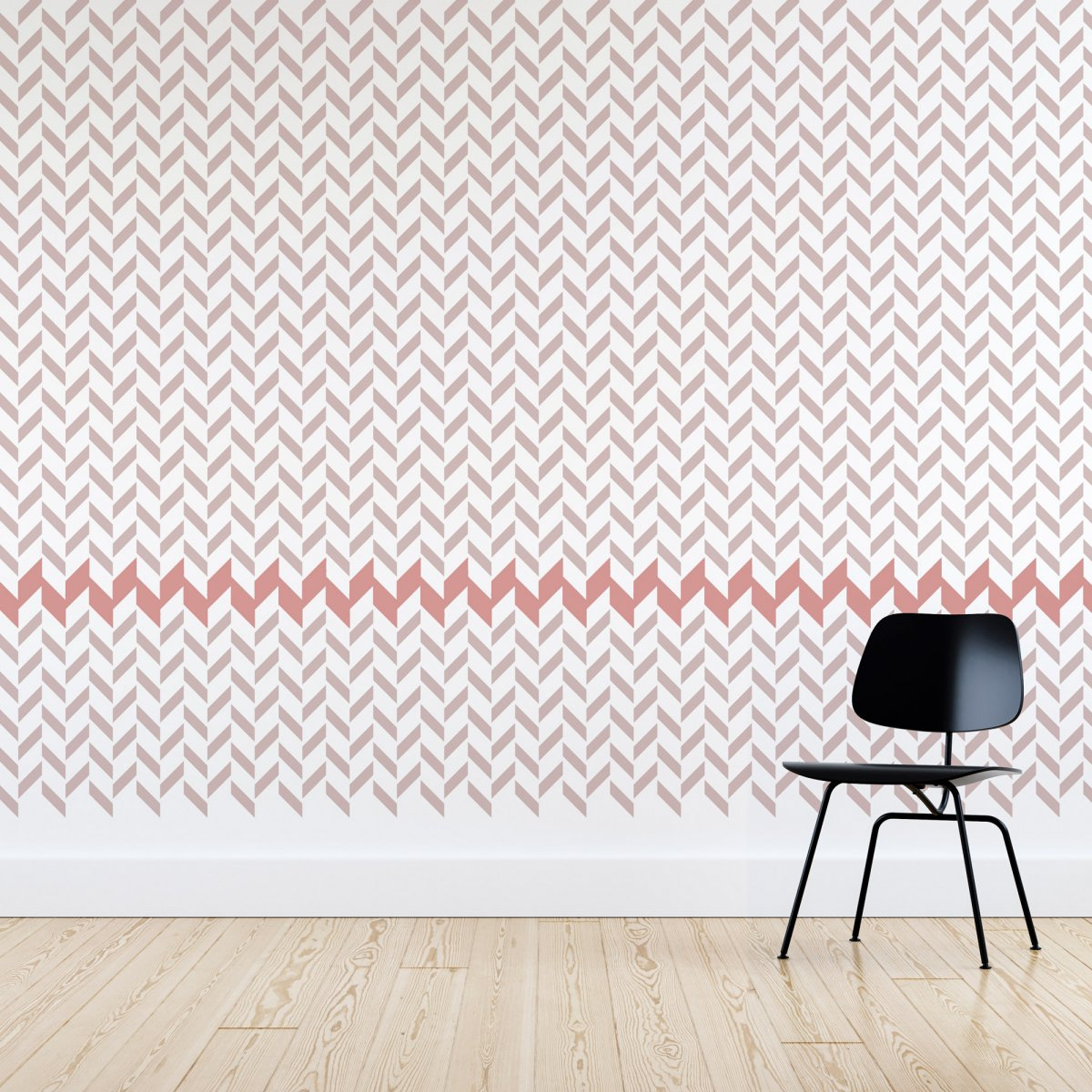 CHEVRON I / Reusable Allover Large Wall Stencils for Painting