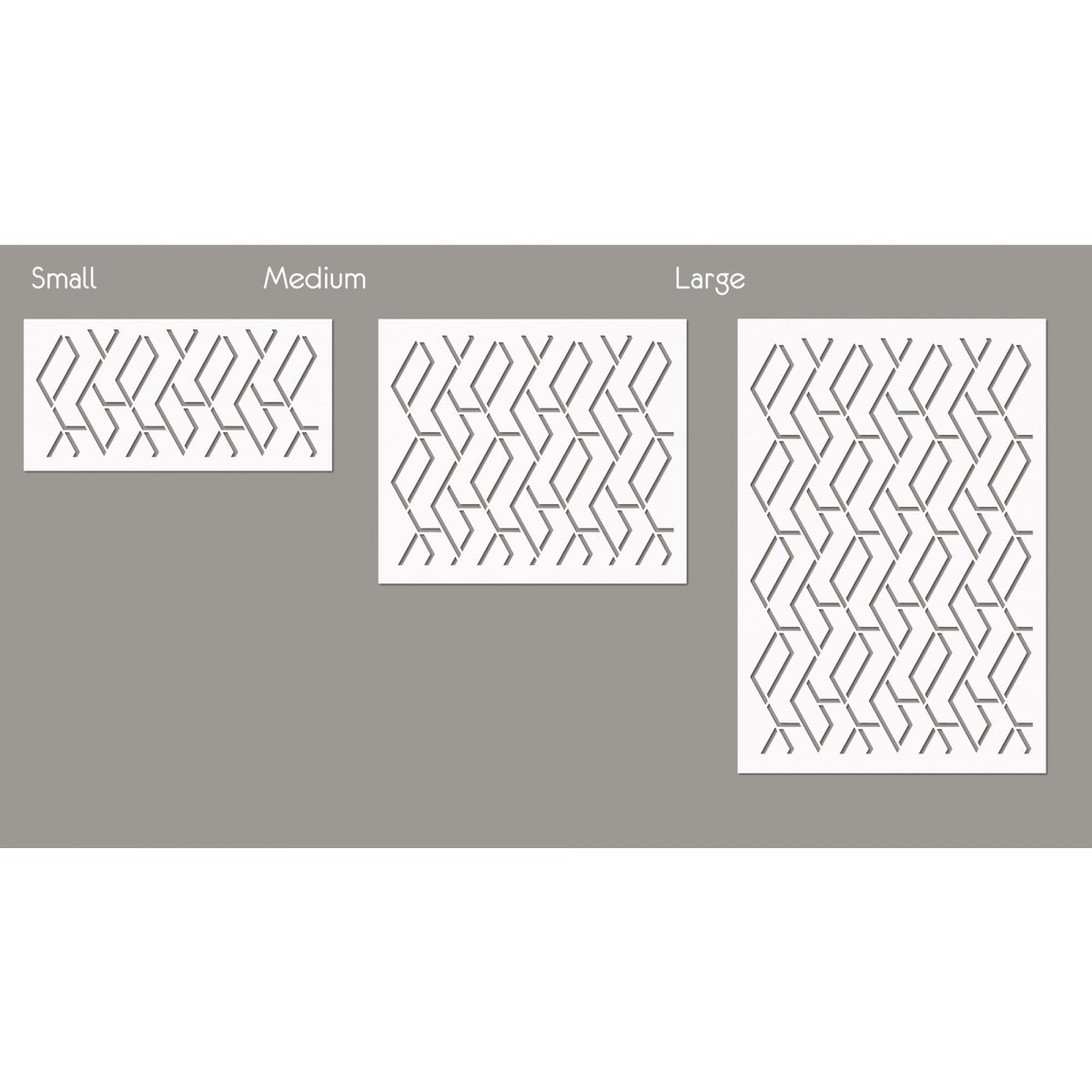 TRAPEZOID / Reusable Allover Large Wall Stencils for Painting