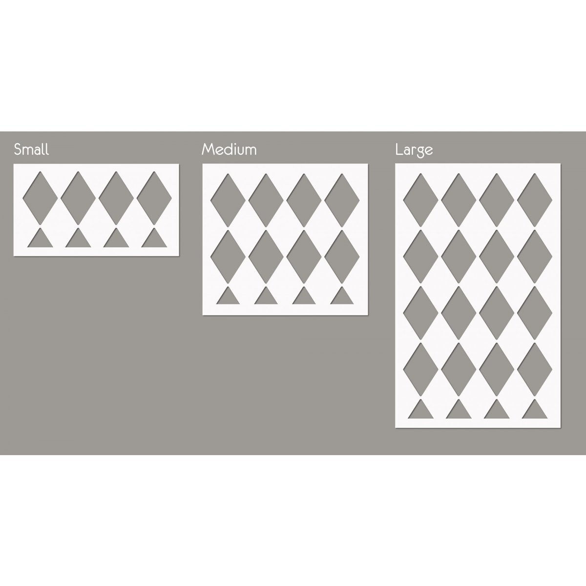HARLEQUIN PATTERN / Reusable Allover Large Wall Stencils for Painting