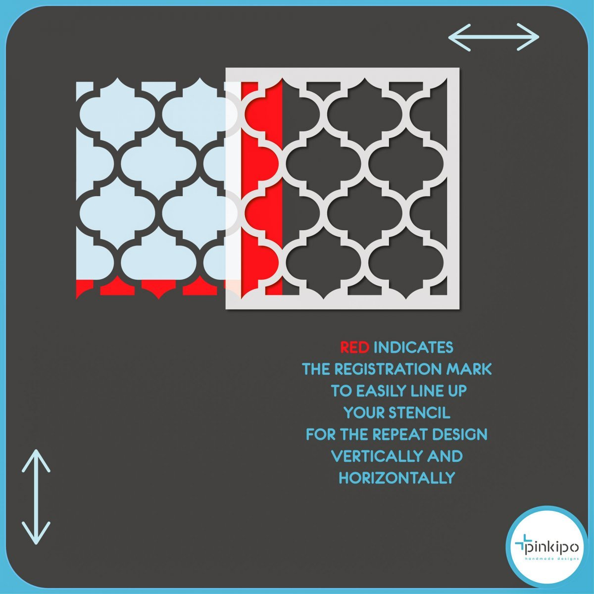 MOROCCAN THICK III / Reusable Allover Large Wall Stencils for Painting