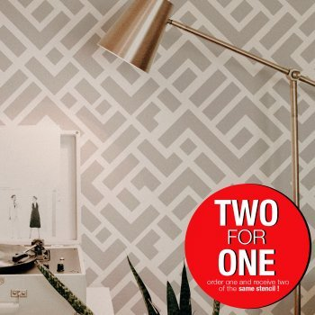 Labyrinth/ Reusable Allover Large Wall Stencils for Painting
