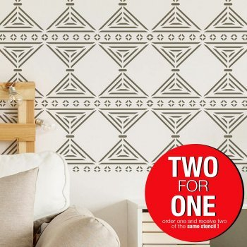 ANATOLIA RUG-CHANCE / Reusable Allover Large Wall Stencils for Painting