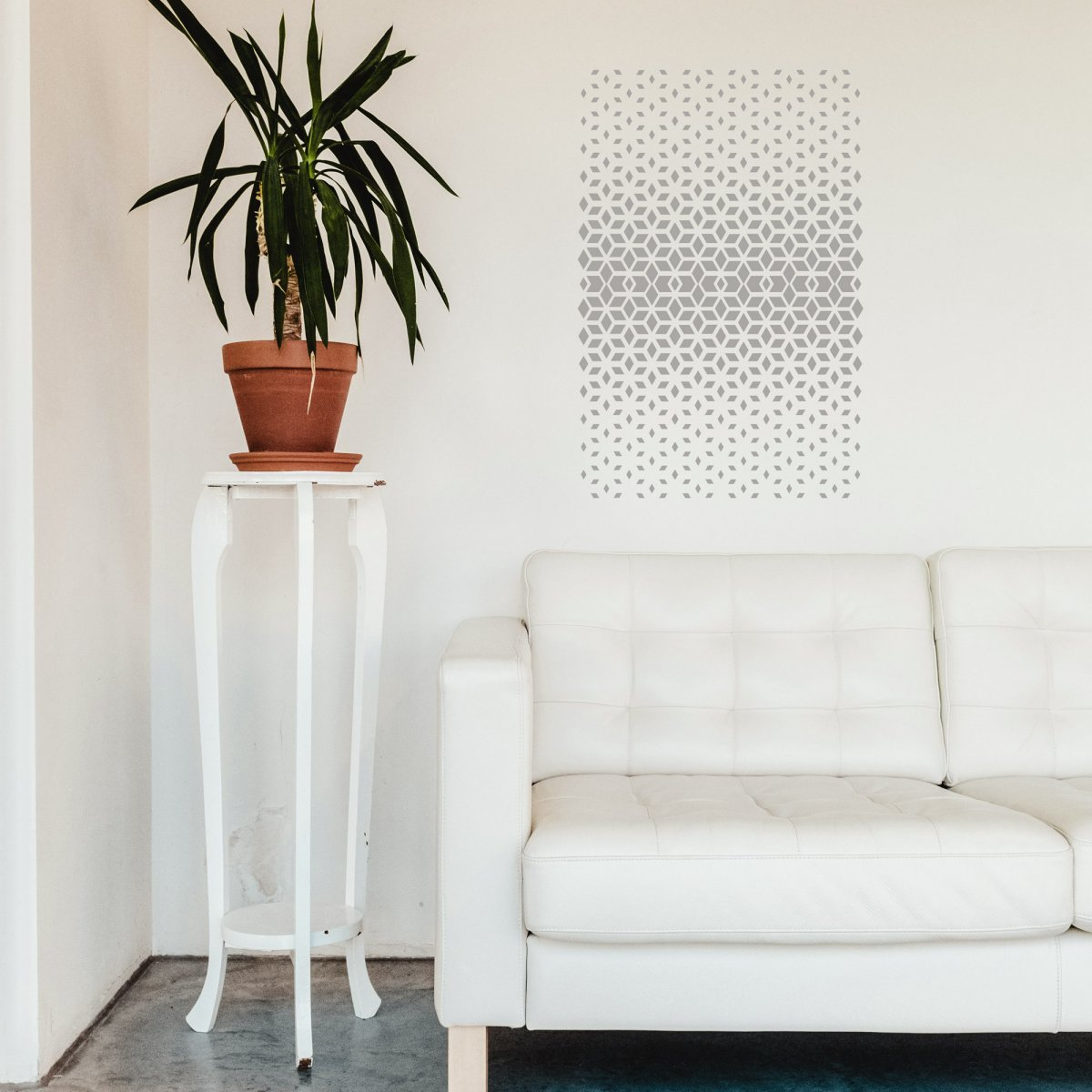 DIAMOND POWDER / Reusable Allover Large Wall Stencils for Painting