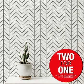 HERRINGBONE Vintage / Reusable Allover Large Wall Stencils for Painting