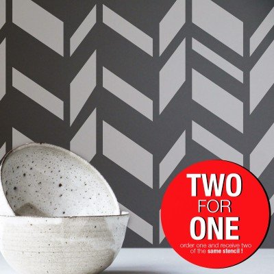 CHEVRON VI / Reusable Allover Large Wall Stencils for Painting
