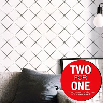 HARLEQUIN MINIMAL / Reusable Allover Large Wall Stencils for Painting