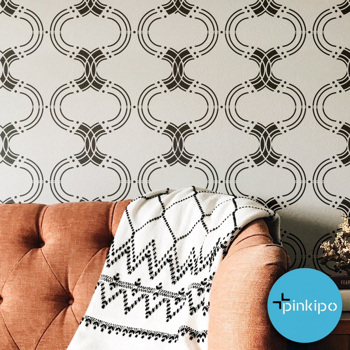 MOROCCAN PREMIUM / Reusable Allover Large Wall Stencils for Painting