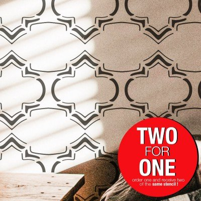 MOROCCAN RUSTIC / Reusable Allover Large Wall Stencils for Painting
