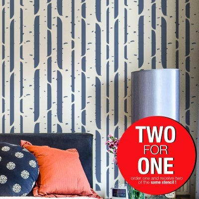 BIRCH TREE / Reusable Allover Large Wall Stencils for Painting