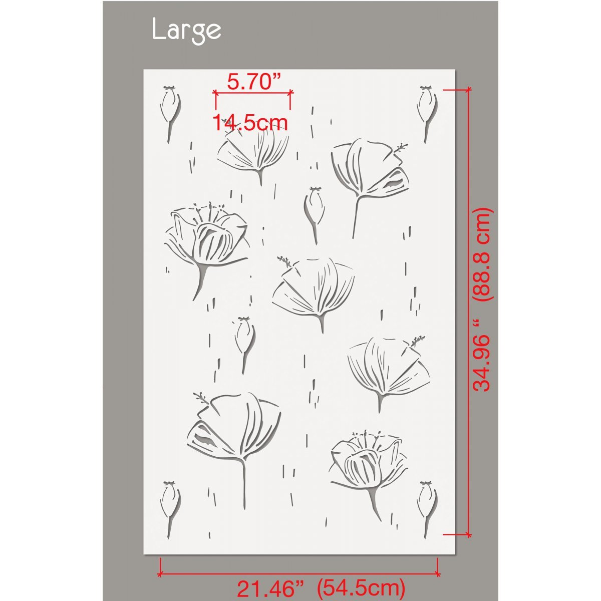 SUMMER FLOWERS / Reusable Allover Large Wall Stencils for Painting