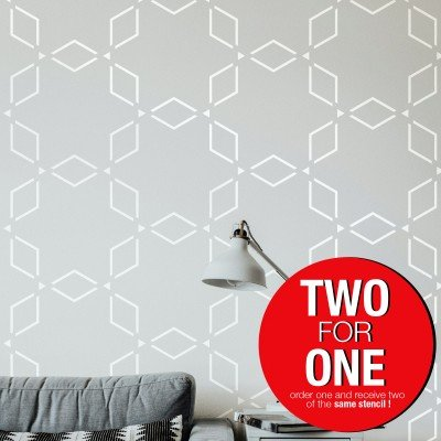 ANATOLIAN PATTERN MODERN / Reusable Allover Large Wall Stencils for Painting
