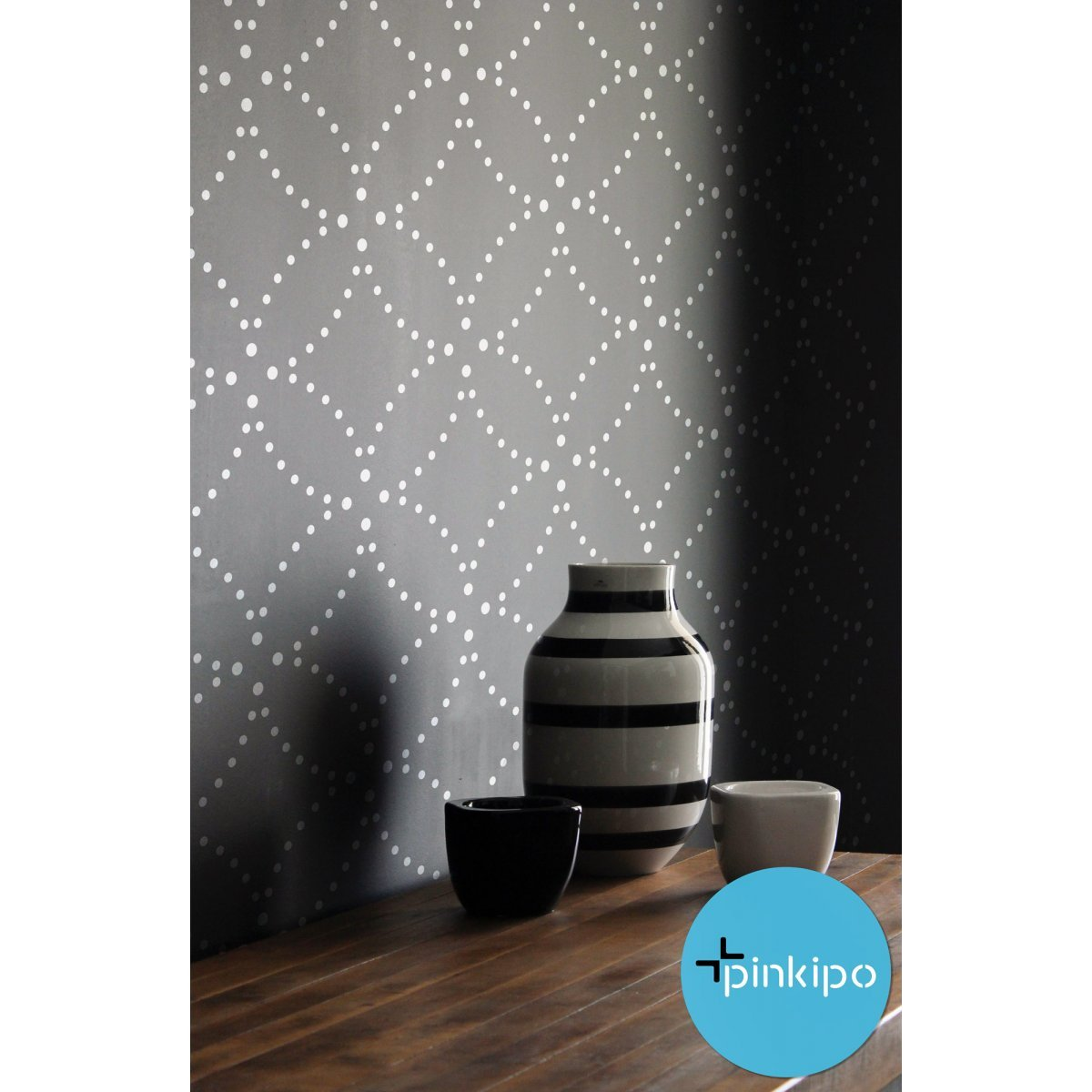 FLOWER OF LIFE SASHIKO / Reusable Allover Large Wall Stencils for Painting