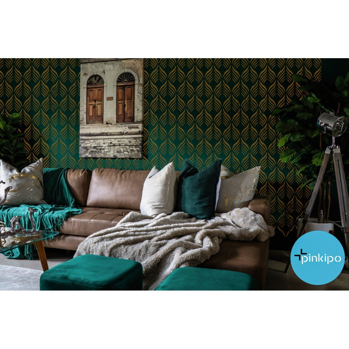 FIRE OF ANATOLIA / Reusable Allover Large Wall Stencils for Painting