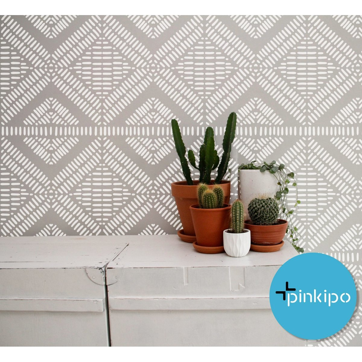 AFRODISIAS / Reusable Allover Large Wall Stencils for Painting