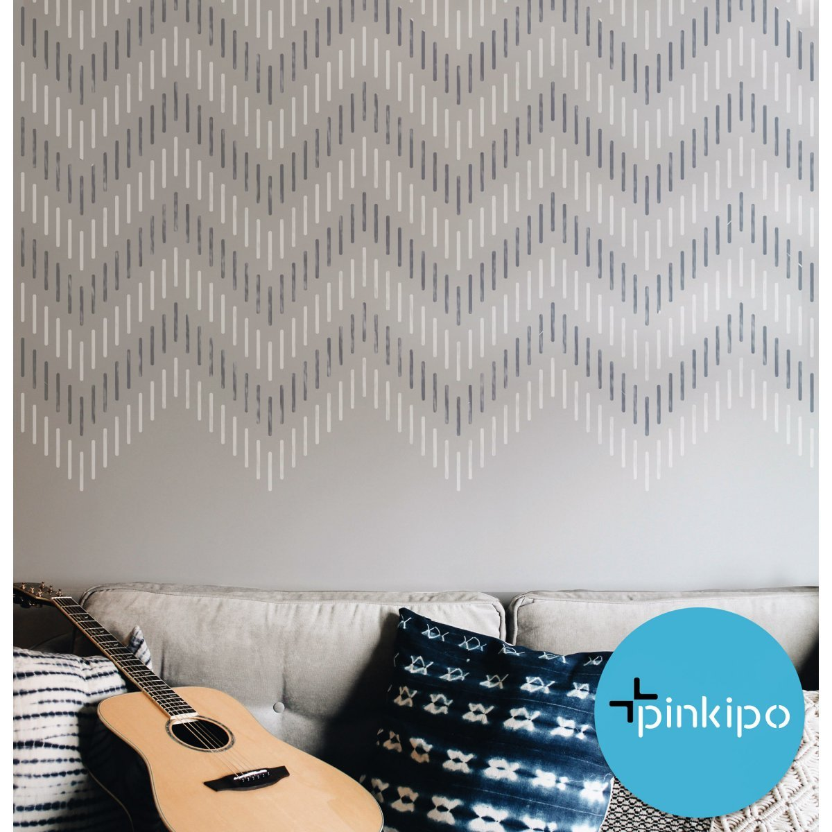 CHEVRON WALL RUG / Reusable Allover Large Wall Stencils for Painting