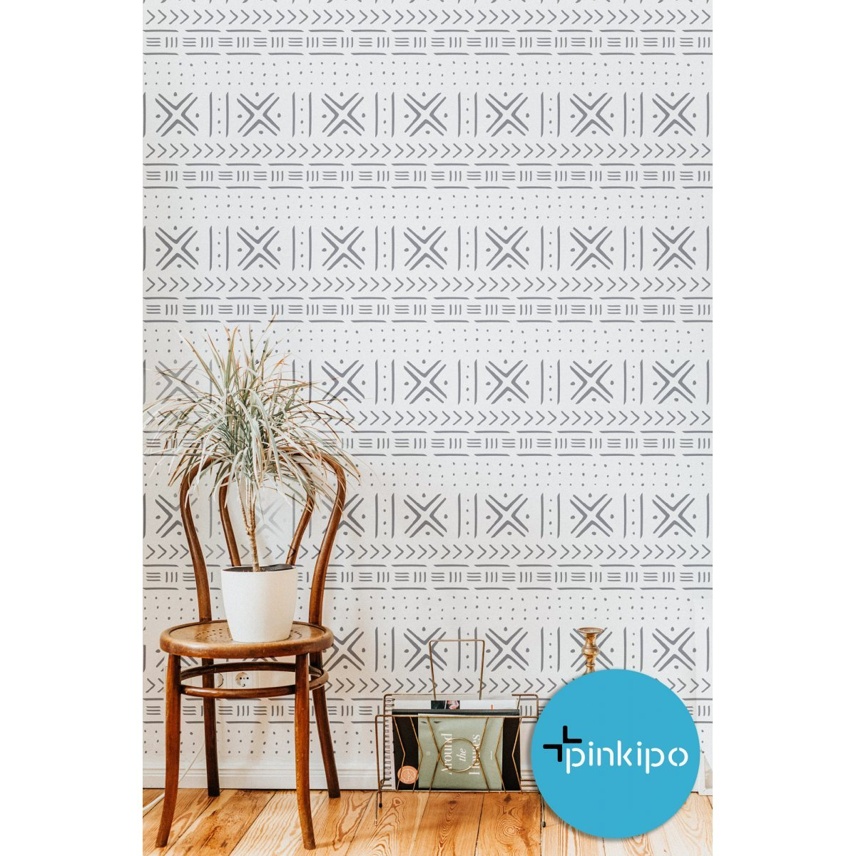 Mudcloth / Reusable Allover Large Wall Stencils for Painting