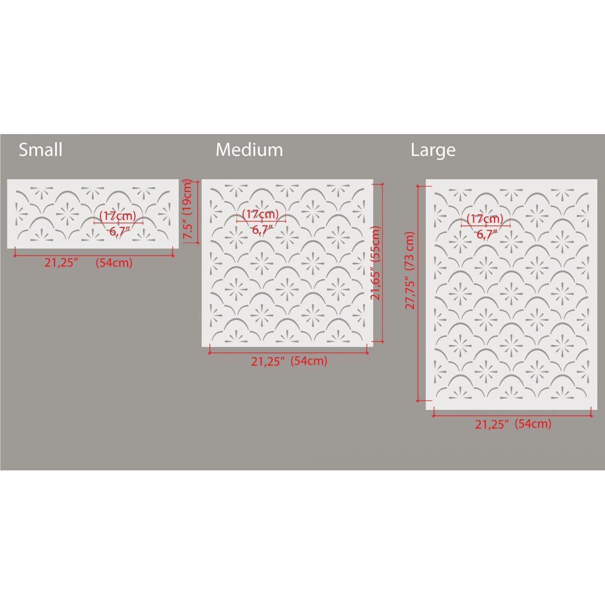 MOROCCAN FLOWER / Reusable Allover Large Wall Stencils for Painting